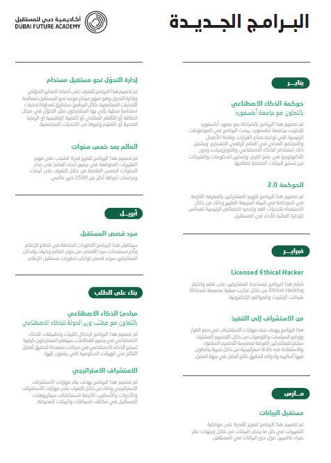أكاديمية دبي للمستقبل - انفوغرافيك 2