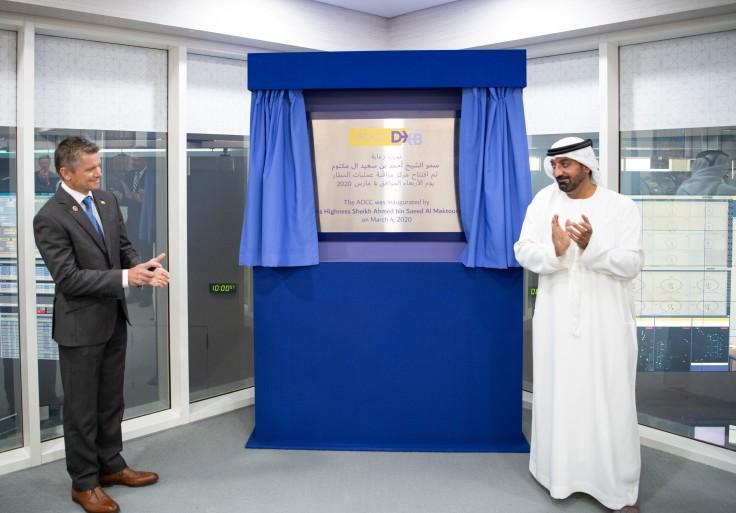 احمد بن سعيد خلال افتتاح مركز التحكم بعمليات مطارات دبي